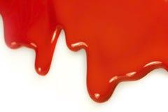 Sgocciolatura rossa Fotografia Stock Libera da Diritti