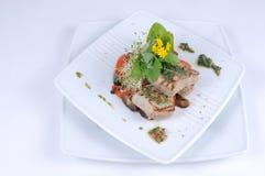 Sgombro cotto con le verdure Fotografia Stock