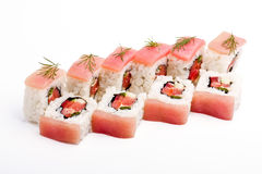 Sgombro-Sushi Immagine Stock Libera da Diritti