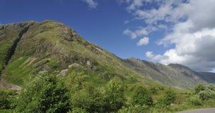 Sgorr nam κορυφογραμμή Fiannaidh & Aonach Eagach Στοκ Εικόνες