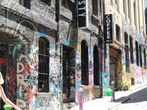 Sgraffite de graffiti à Melbourne Photographie stock libre de droits