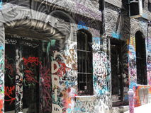 Sgraffite de graffiti à Melbourne Photos stock
