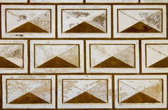 Sgraffito op historische muurachtergrond Stock Afbeelding