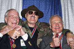 Sgt. Slaughter and Two American Astronauts Stock Photo