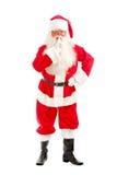 Sguardi del Babbo Natale intento attraverso i suoi vetri direttamente al Immagine Stock Libera da Diritti