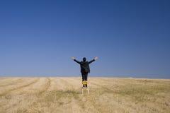 Sguardo alto per abbracciare natura Fotografia Stock