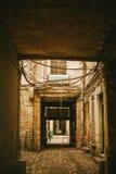 Sguardo d'annata di vecchia via parigina Fotografie Stock Libere da Diritti