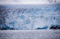 Sguardo da vicino ad Amalia Glacier Immagini Stock