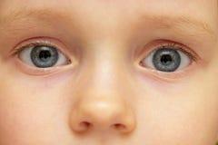 Sguardo del bambino Fotografia Stock