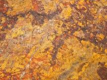 Sguardo del dettaglio alla pietra dell'arenaria del quarzo Fotografie Stock Libere da Diritti