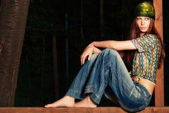 Sguardo del Hippie Fotografia Stock Libera da Diritti