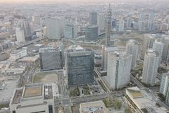 Sguardo della città di Yokohama da alta costruzione Immagini Stock Libere da Diritti