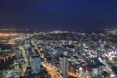 Sguardo della città di Yokohama da alta costruzione Immagine Stock