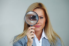 Sguardo della donna di affari Immagine Stock