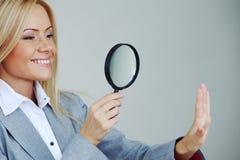 Sguardo della donna di affari Fotografie Stock Libere da Diritti