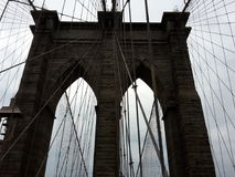 Sguardo della ragnatela del ponte di Manhattan Immagine Stock Libera da Diritti