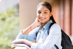 Sguardo della studentessa di college Fotografie Stock