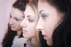 Sguardo delle donne Immagine Stock