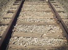 Sguardo dettagliato alle piste del treno fotografie stock libere da diritti