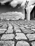 Sguardo di papa John Paul Two Artistic del monumento in bianco e nero Fotografie Stock Libere da Diritti
