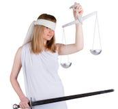 Sguardo di Themis a voi Fotografia Stock Libera da Diritti