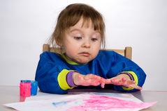 Sguardo fisso della bambina con stupefazione Fotografia Stock Libera da Diritti