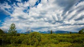 Il grande Teton che guarda fuori Fotografie Stock
