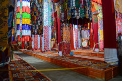 Sguardo interno del monastero di Ganden Sumtseling Immagine Stock Libera da Diritti