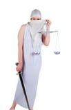 Sguardo musulmano di Themis a voi Immagine Stock Libera da Diritti
