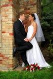Sguardo nuziale di amore Fotografie Stock