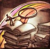 Sguardo più attento al concetto del Rainbow illustrazione vettoriale