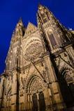 Facciata della cattedrale di vitus della st Immagini Stock Libere da Diritti