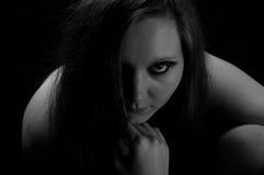 Sguardo scuro immagini stock