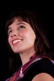 Sguardo sorridente della bella donna in su Fotografie Stock
