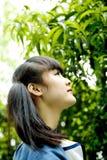 Sguardo teenager asiatico in avanti Immagine Stock Libera da Diritti