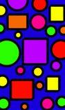 sguares y círculos ilustración del vector