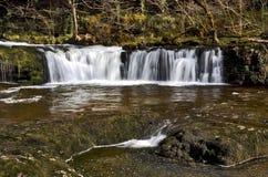 Sgwd Ddwli isaf, Cascade on the Neath River. Sgwd Ddwli isaf, Cascading waterfall on the Neath River, near Pontneddfechan, Vale of Neath, South Wales Stock Photos