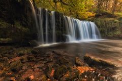 Sgwd Ddwli Uchaf waterfall country Royalty Free Stock Images