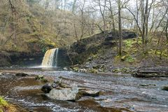 Sgwd gwaladus Waterfall, Brecon Beacons, South Wales Stock Photography