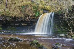 Sgwd gwaladus Waterfall, Brecon Beacons, South Wales Royalty Free Stock Images