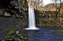 Sgwd Gwladys Waterfall on the Afon Pyrddin Stock Photos