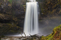Sgwd Henrhyd waterfall. Highest waterfall in South Wales, UK win Royalty Free Stock Photos
