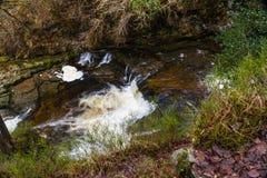 Sgwd Isaf Clun-Gwyn waterfall. On the river Afon Mellte South Wa. Sgwd Isaf Clun-Gwyn Falls, waterfall. Near Pontneddfechan, Vale of Neath, Powys, Wales, United Royalty Free Stock Photo