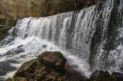 Sgwd Isaf Clun-Gwyn waterfall. On the river Afon Mellte South Wa Stock Photo