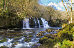 Sgwd y Pannwr Waterfall River Afon Mellte Stock Images