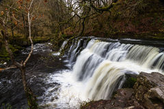 Sgwd y Pannwr waterfall. On the river Afon Mellte South Wales, U Royalty Free Stock Photography