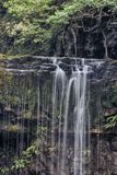 Sgwd yr Eira瀑布,布雷肯比肯斯山国家公园,威尔士 免版税库存照片