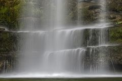 Sgwd yr Eira瀑布,布雷肯比肯斯山国家公园,威尔士 库存图片
