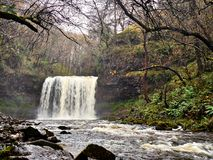 Sgwd yr Eira Waterfall Brecon Beacons National Park Royalty Free Stock Images