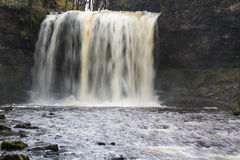 Sgwd yr Eira waterfall. On the river Afon Hepste South Wales, UK Royalty Free Stock Photos